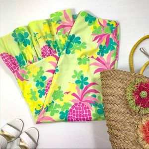 Lilly Pulitzer | Yellow Pink Pineapple Maxi Skirt